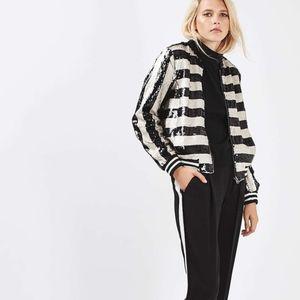 Topshop Jackets & Coats - Topshop sequin blazer size 0